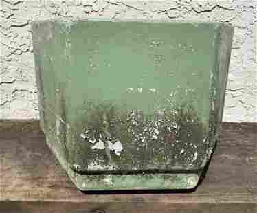 Vintage WILLY GUHL French Octagonal Planter. Green Fini
