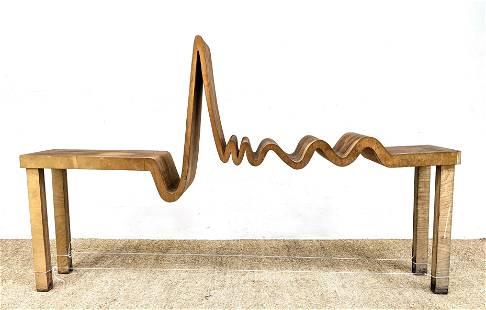 Custom Laminated wood Decorator Table Sculpture. Perfec