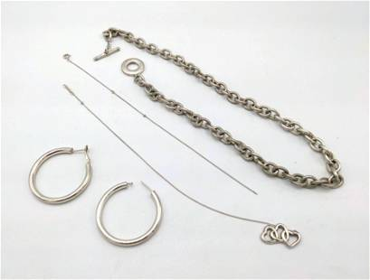 Grouping of Tiffany and Co. Sterling Jewelry. Heavier n