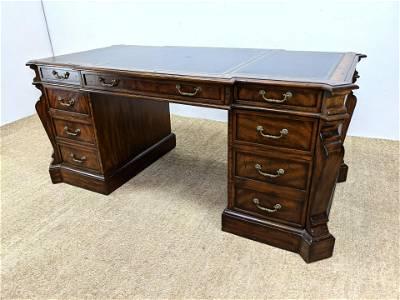 MAITLAND SMITH Executive Desk. Embossed black leather t