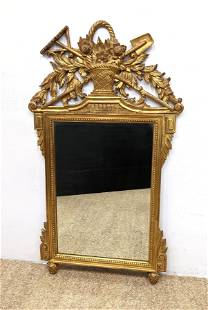 FRATELLI PAOLETTI Firenze Italy Gilt Wood Mirror. Large