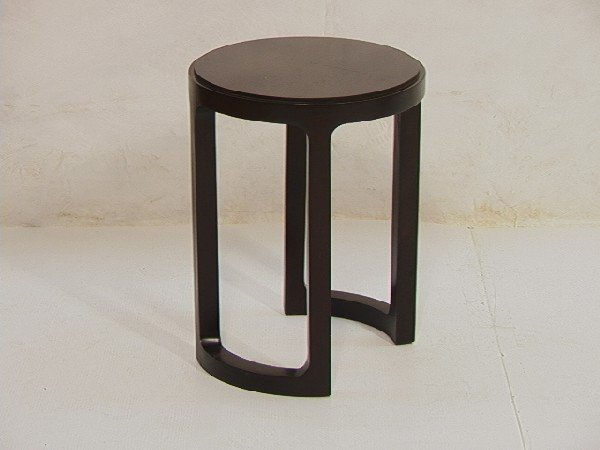 4: Dunbar Taboret Side Table.  Dark stained mahogany
