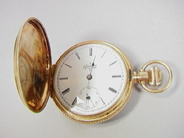 1: 14K Gold Elgin Hunt Case Pocket Watch.  4832354