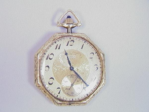 2: 14K Gold Elgin National Pocket Watch.  17 Jewel.