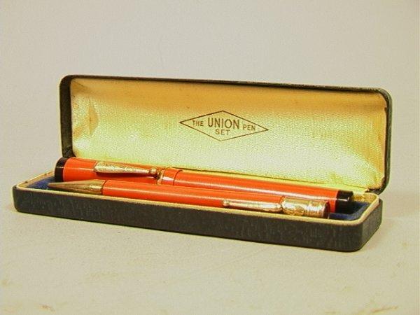 14: Union Pen Set.  Boxed Pen and Pencil set
