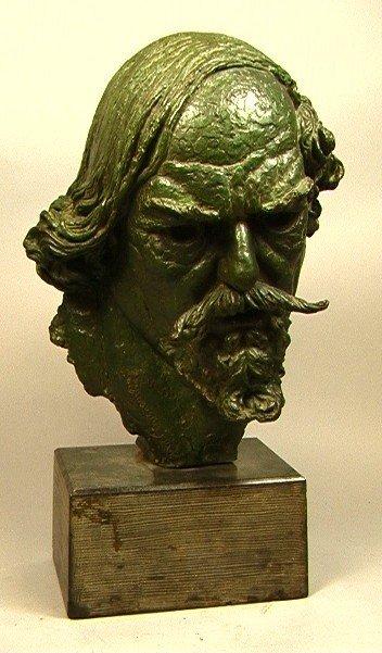 325: BARNEY SEALE Bronze Bust of AUGUSTUS JOHN. 20th c
