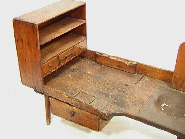 551: Antique Cobblers Bench with Tools and accessories - 2
