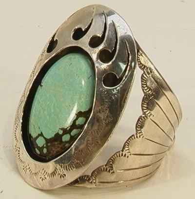 24: Native American Indian Large Turquoise  Bracelet.