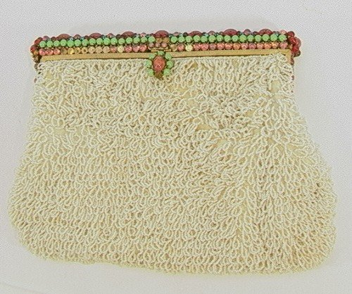 79: Exquisite Beaded Jeweled French Evening Purse Handb