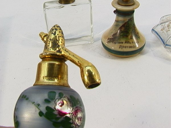 365: 4 Perfume Bottles Enameled top, Devon Violets - mi - 5