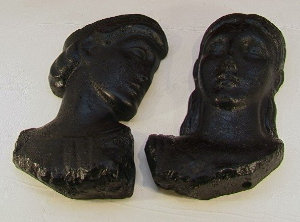 1016: Pr Busts FREDERICK WEINBERG Wall Mask Male Female