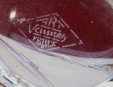1017: Large Clear Glass Freeform ART VANNES Vase FRANCE - 2