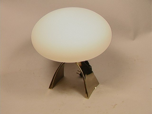 3: Laurel Mushroom Shade Lamp with Arched Base.  Lab
