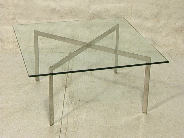 34: Mies Van Der Rohe For Knoll Barcelona Table. Squ