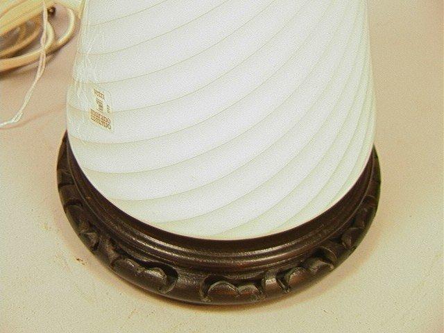 48: Murano Glass Cone Shaped Table Lamp.Vetri Murano. - 3