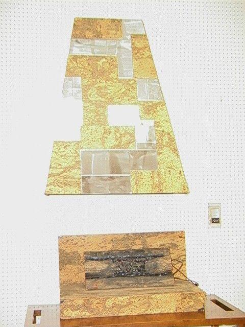 392: PAUL EVANS style CityScape Cork and Chrome Tile F