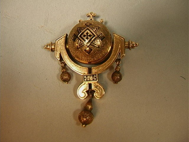 5: Super Victorian 14K Gold Brooch Pin with Movable