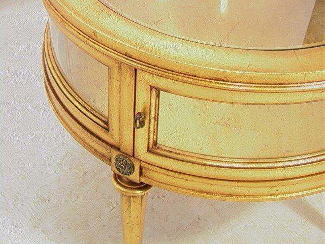 432: Round Gold Gilt Vitrine Curio table. - 3