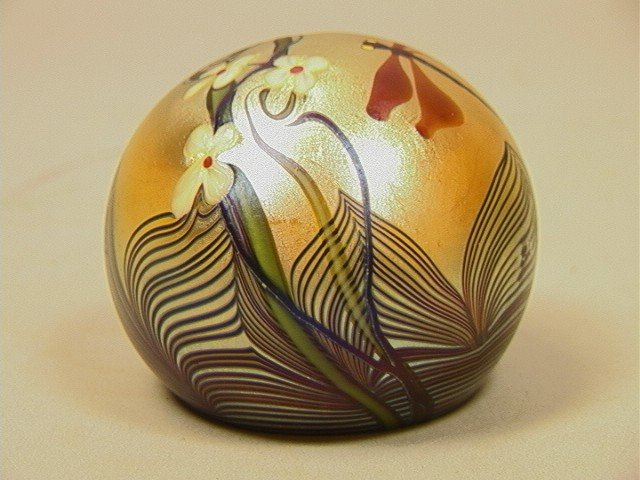 10: Orient and Flume Art Glass Paperweight.  I53J 197