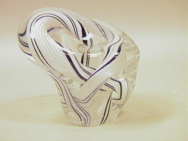 11: Art Glass Sculpture Cased glass swirl design.  Si
