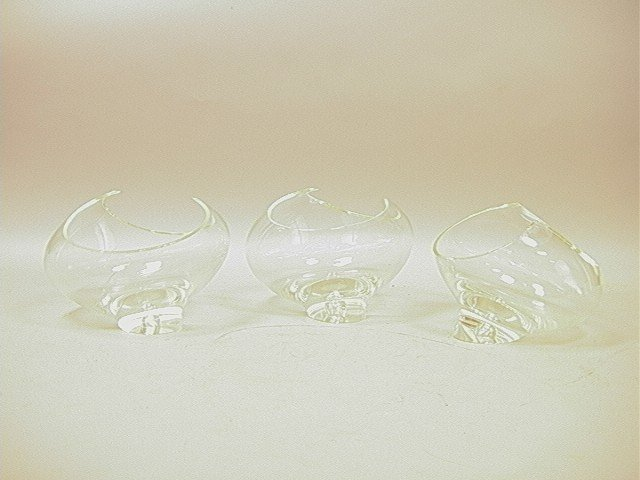 12: 3pc Wilkerson Art Glass.  Set of clear glass bowl