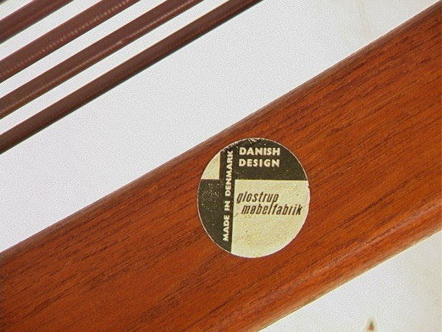 122: Leather Danish Modern TEAK Lounge Chair. GIOSTRUP - 10