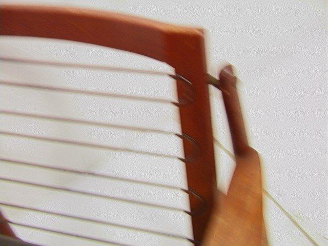 122: Leather Danish Modern TEAK Lounge Chair. GIOSTRUP - 5