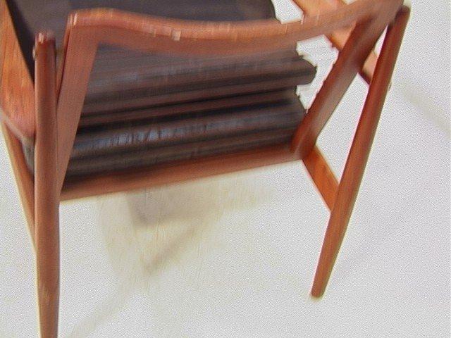 122: Leather Danish Modern TEAK Lounge Chair. GIOSTRUP - 6