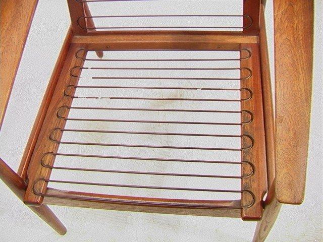 122: Leather Danish Modern TEAK Lounge Chair. GIOSTRUP - 7