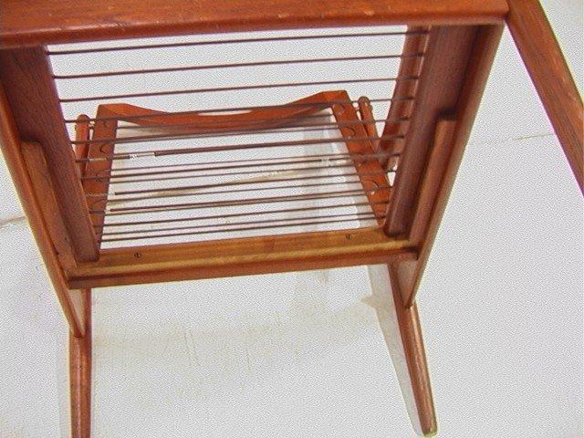 122: Leather Danish Modern TEAK Lounge Chair. GIOSTRUP - 8