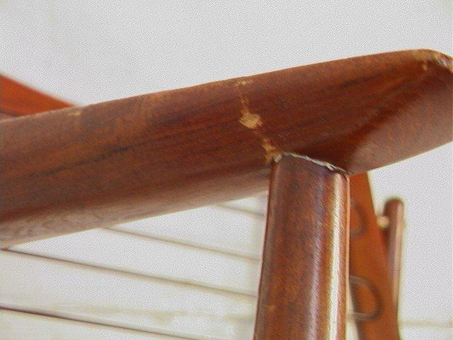 122: Leather Danish Modern TEAK Lounge Chair. GIOSTRUP - 9