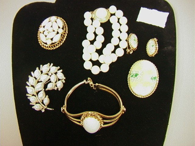 10: 6 pc Lot Signed Costume Jewelry.  HOBE pin and Ea