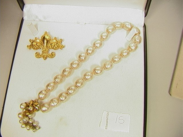 15: 2 pcs. Lot Signed Costume Jewelry MIRIAM HASKELL