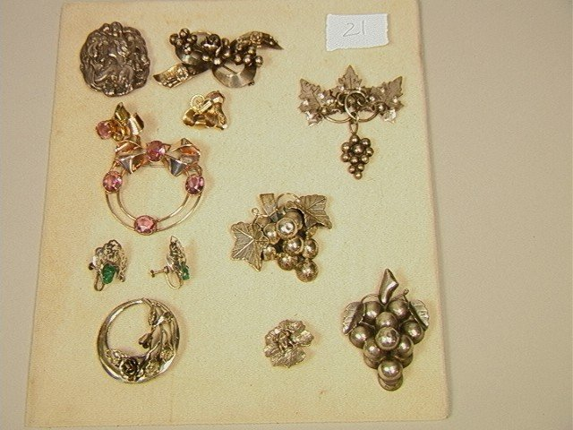 21: 10 pcs STERLING JEWELRY lot.  Including HOBE Bow