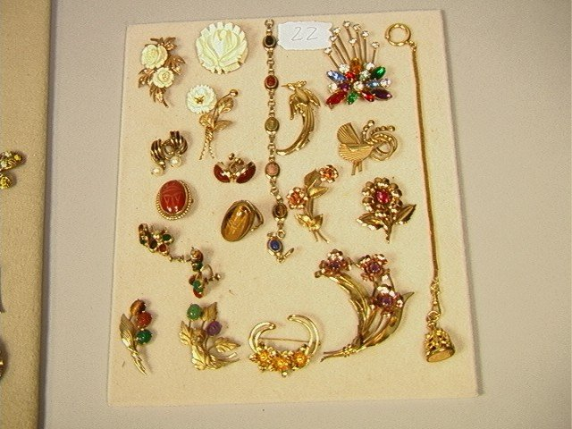 22: 20 pcs. Lot Gold Filled Costume Jewelry inc.  SCA
