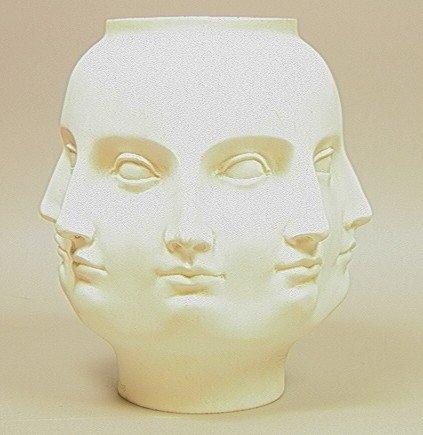 21: FORNASETTI Style TMS2005 Ceramic Face Vase. Multi