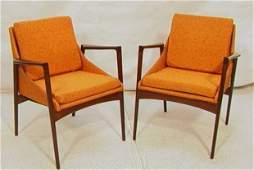 217 Pr SELIG Denmark Teak Arm Lounge Chairs Nice tea