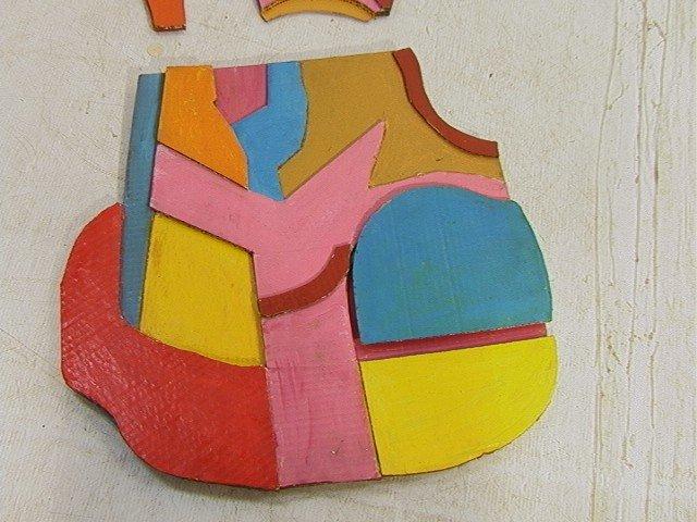 448: Pr STUART EGNAL Cardboard Collage. Acrylic Painti - 2