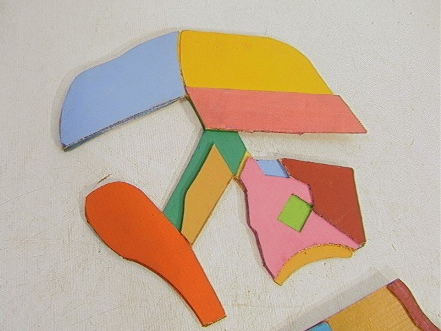 448: Pr STUART EGNAL Cardboard Collage. Acrylic Painti - 3