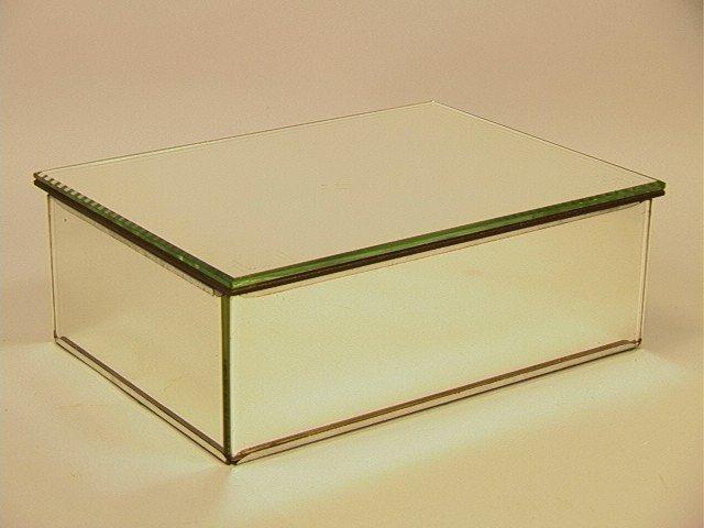 8: HOLLYWOOD REGENCY Mirrored  Dresser Box Vanity.