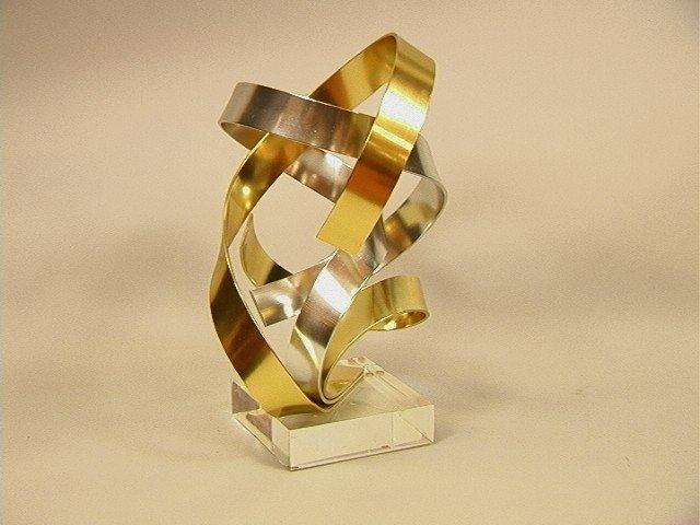 9: DAN MURPHY 1987 Aluminum & Lucite Sculpture.  Thr