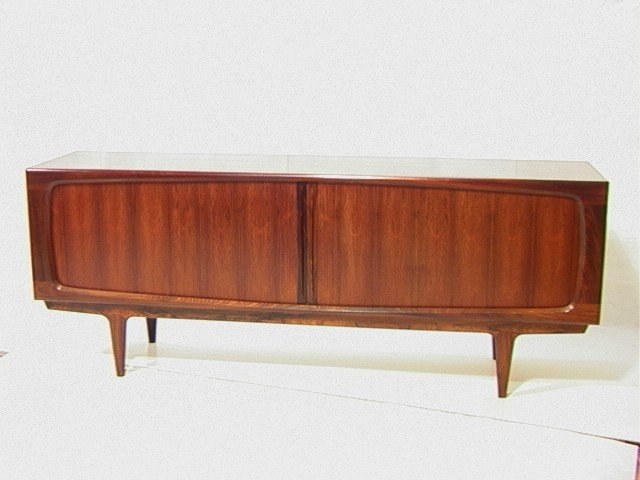 11: Magnificent Danish Modern ROSEWOOD Sideboard Cred