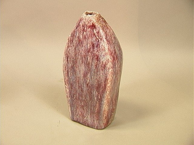 13: FANTONI Italy Signed Pottery Vase. Red, Purple an