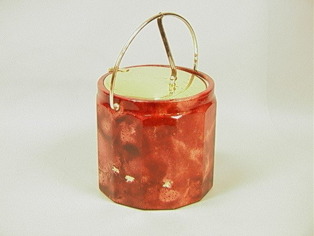 16: ALDO TURO style Faux Leather Covered Ice Bucket.