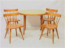 57 PAUL McCOBB Dining Table  4 Captains Chairs Map