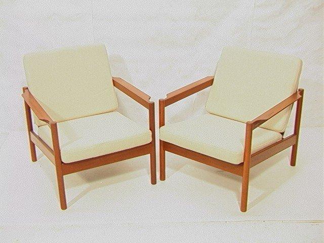 pr danish modern magnus olesen teak lounge chair