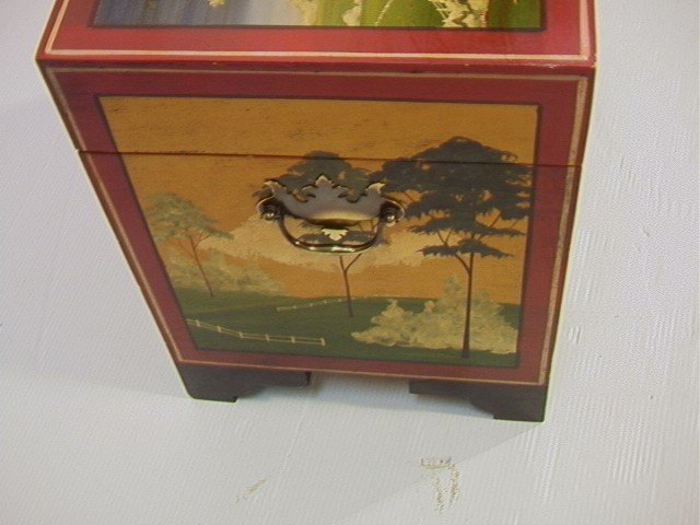 353: Don Andres Painted Decorated Wood Box. Artist sig - 4