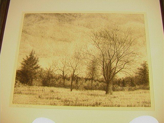 380: William T Livesay. Original Intaglio Print Pencil