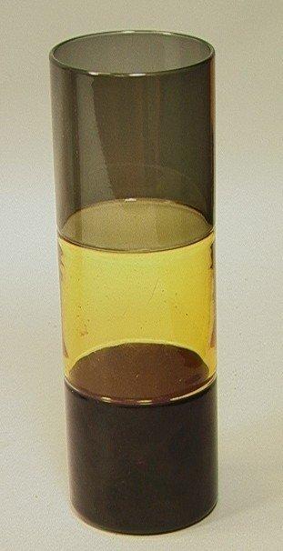 7: Venini Murano Italia Three Color Cylinder Vase.