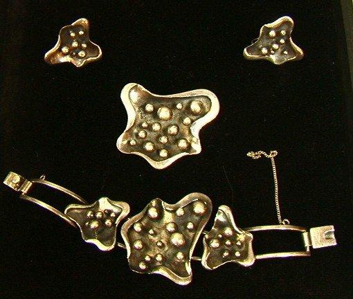 13: Salvador Teran  Sterling Jewelry Set.  Bracelet P